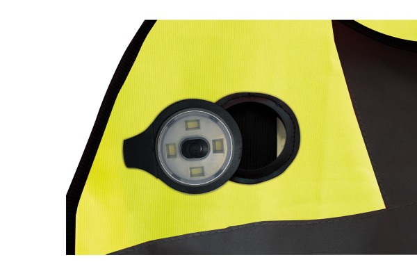 High Visibility Vest with Rechargeable LED Light